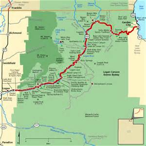 national scenic byways logan canyon scenic byway map america s byways