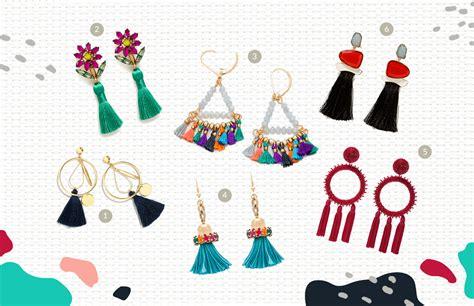 Anting Bow til beda dengan tassel earrings smartmama