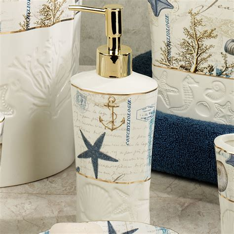 antigua ceramic coastal bath accessories