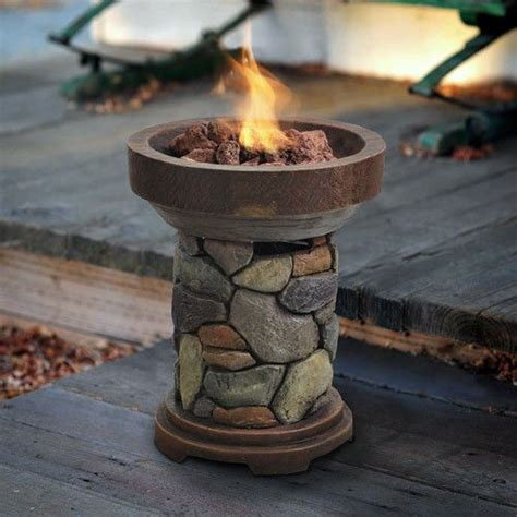 Table Top Firepit Lp Propane Gas Table Top Firepit Tabletop Pit Patio Outdoor Bowl Deck