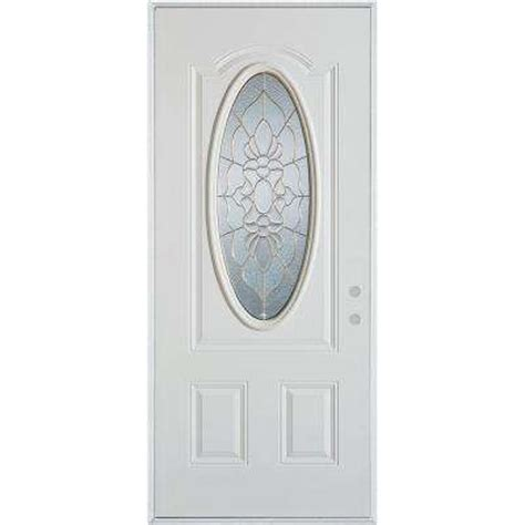 Oval Glass Doors 3 4 Oval Doors With Glass Steel Doors Front Doors Exterior Doors Doors Windows The