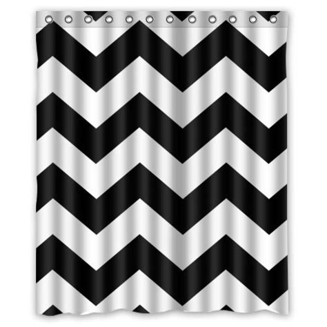 black and white chevron drapes best black and white chevron shower curtain reviews