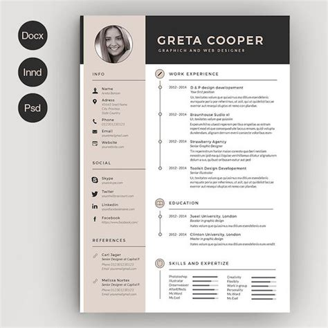 graphic design resume font 261 best images about curr 237 culos resume on pinterest