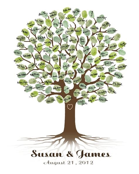 printable family tree guest book wedding tree guest book weddings pinterest