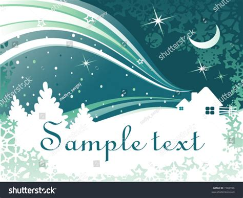 abstract vector winter tree design vector abstract winter background houses trees stock vector 7704916