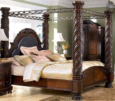 north shore bedroom furniture north shore king canopy bed set by ashley la furniture