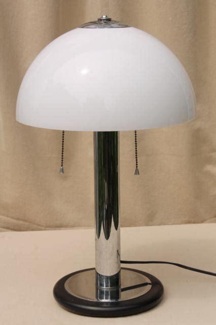 mod vintage tubular chrome steel table lamp  plastic