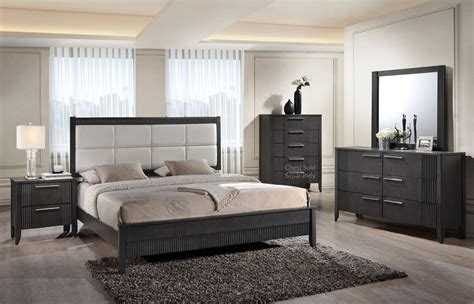 gray bedroom sets 6 pc queen bedroom set gray orange county ca daniel