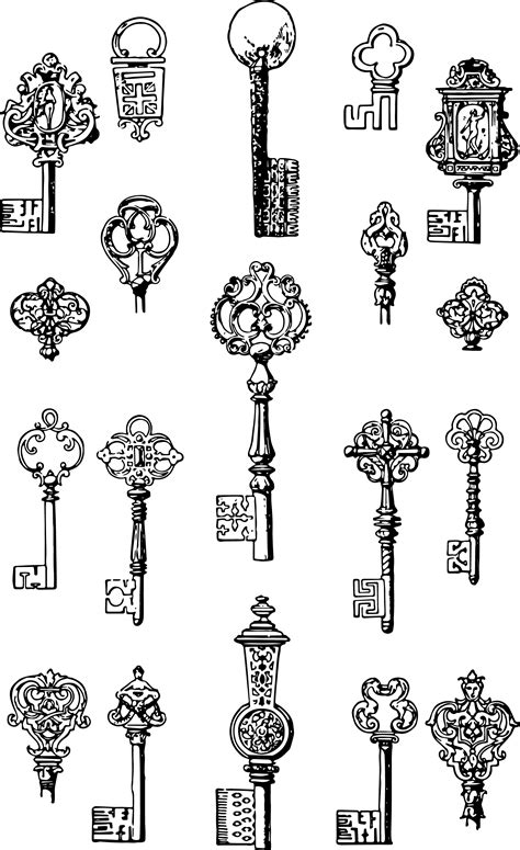 interior artistic stock vectors vector clip art vintage keys free vector clip art oh so nifty