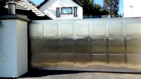 Garage Gate Designs contemporary design stainless gate youtube