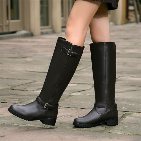 long biker boots long black boots women boot ri