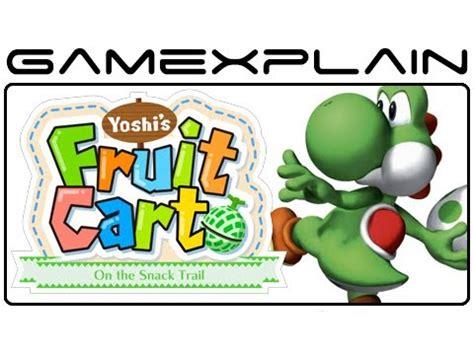 wii u fruit nintendo land yoshi s fruit cart gameplay footage w
