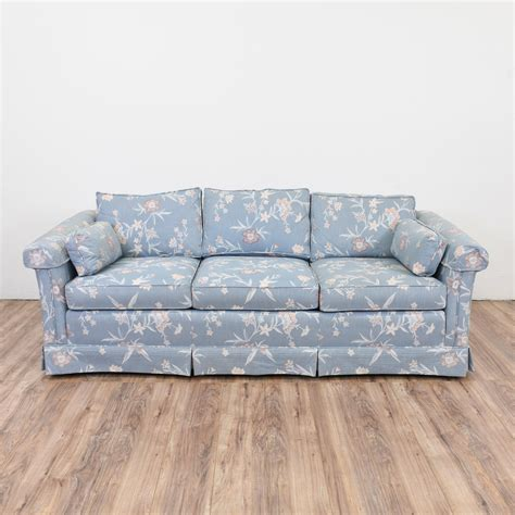 floral sofas and chairs blue floral sofa loveseat vintage furniture san diego