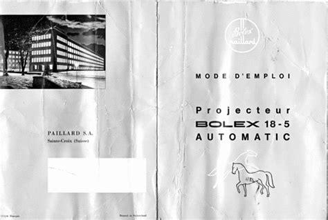 Bolex Paillard 18 5 Automatic Francais Download Manuals
