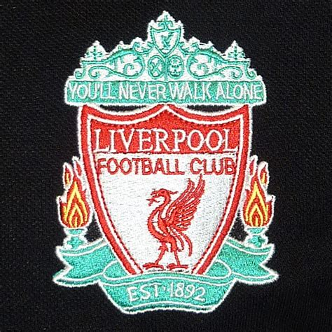 Polo Shirt Liverpool Fc Black liverpool fc official football gift mens crest polo shirt