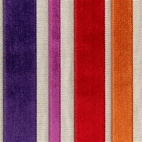 Barnum Carnival Multi Purple Red Cut Chenille Stripe