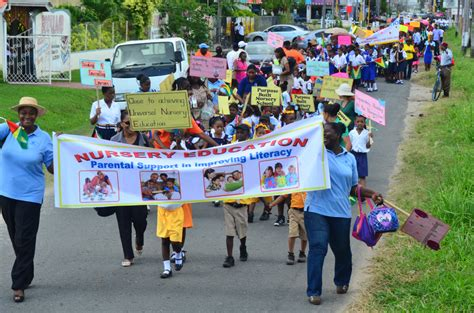 theme for education month 2014 in guyana moe education month rally guyana chronicle