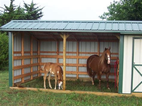 Loafing Shed For Horses by Oklahoma City Affordable Barns Loafing Sheds