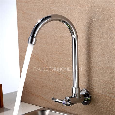 cheap cold water only wall mount kitchen sink faucet sale