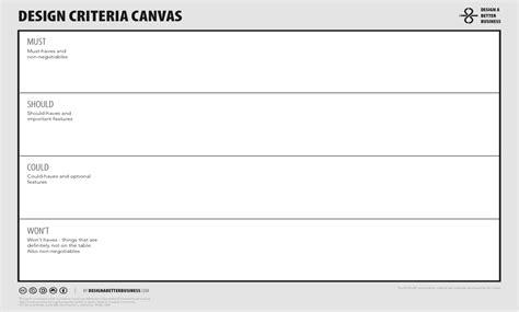 Design Criteria Canvas | design criteria canvas onopia