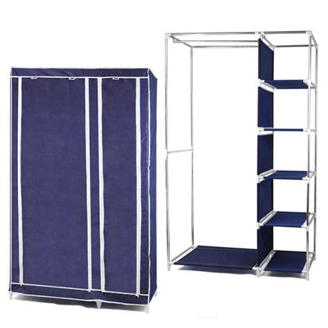phfu foldable canvas wardrobe clothes rail hanging