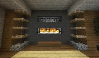 minecraft furniture fireplaces a modern fireplace