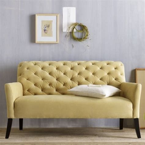 Elton Settee Review elton settee dandelion performance velvet modern indoor benches by west elm