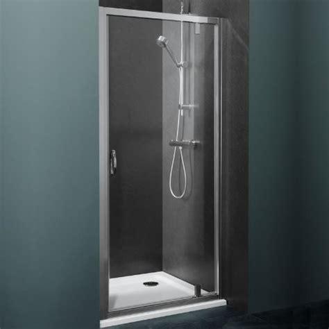 Satin Glass Shower Door Ella Pivot Bathroom Reversible Shower Door 5mm Toughened