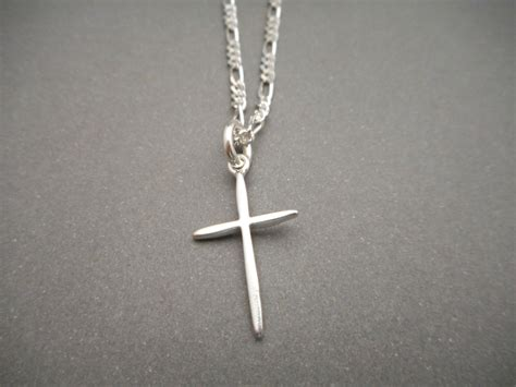 sterling silver cross necklace mens jewelry religious gift