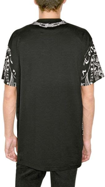 givenchy printed jersey oversized t shirt in black for lyst