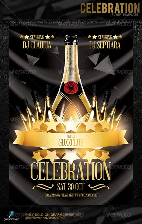 Celebration Flyer Template Graphicriver Celebration Flyer Template