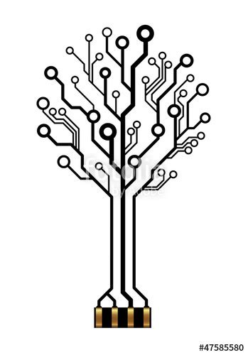 quot vector technology tree for logo or icon quot stock image and