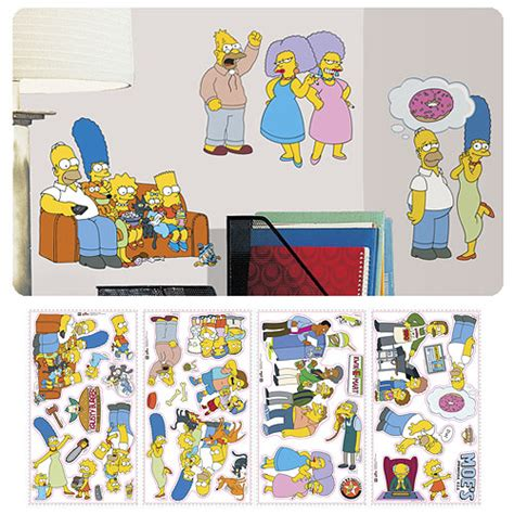 the simpsons peel and stick wall decals roommates simpsons wall murals at entertainment earth