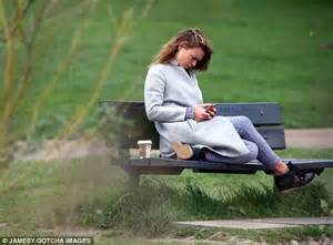 park bench tv show billie piper goes make up free to enjoy view from