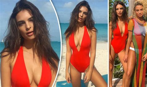 Puts On Baywatch Suit by Emily Ratajkowski Puts On Eye Popping Display In Baywatch