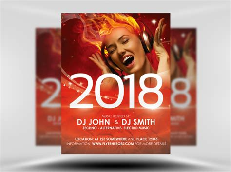 free free new year s eve flyer template vector area