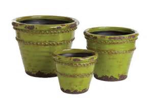 napa home and garden napa home and garden fluted pots set of 3 domino