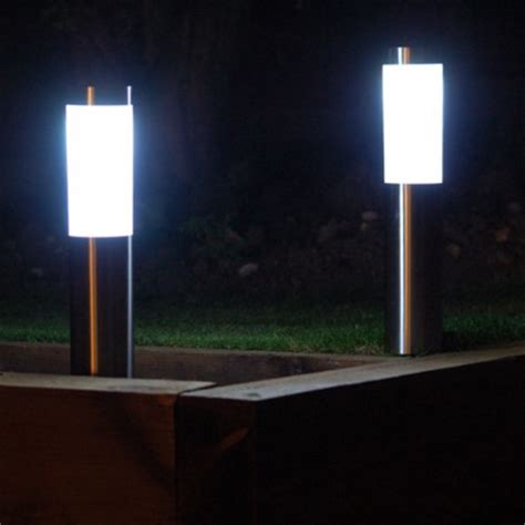 London Stainless Steel Solar Garden Post Lights Garden Solar Lights Uk