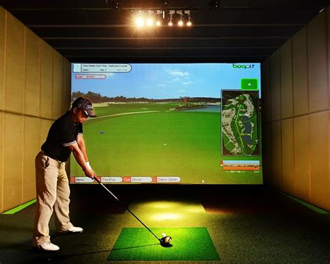 full swing golf simulator cost pgm screen golf simulator price
