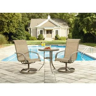 Garden Oasis Long Beach 3pc Bistro Set Outdoor Living Small Space Patio Furniture Sets