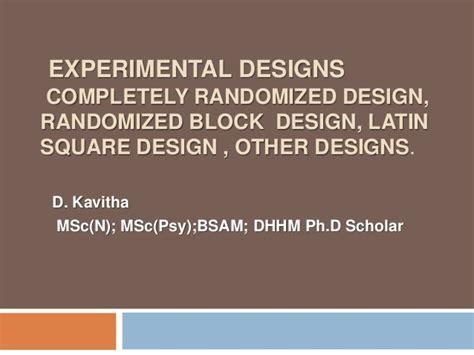 latin square experimental design experimental design