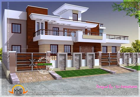 Modern House Plans India Modern Style India House Plan Kerala Home Design And Floor Plans