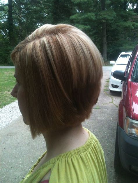 bob hair lowlights inverted bobs with highlights dark brown hairs