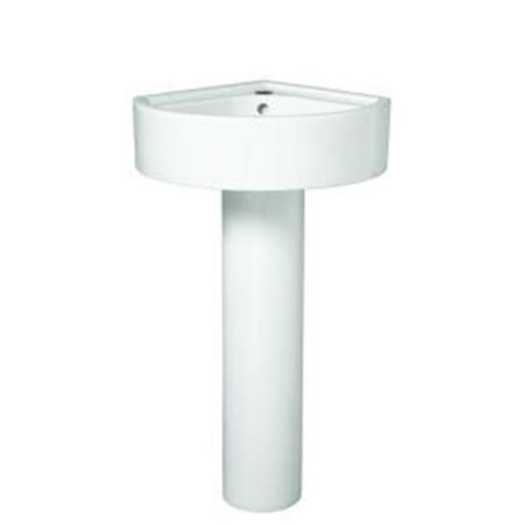 Small Bathroom Sink Home Depot by Porcher Solutions Small Corner Pedestal Combo Bathroom