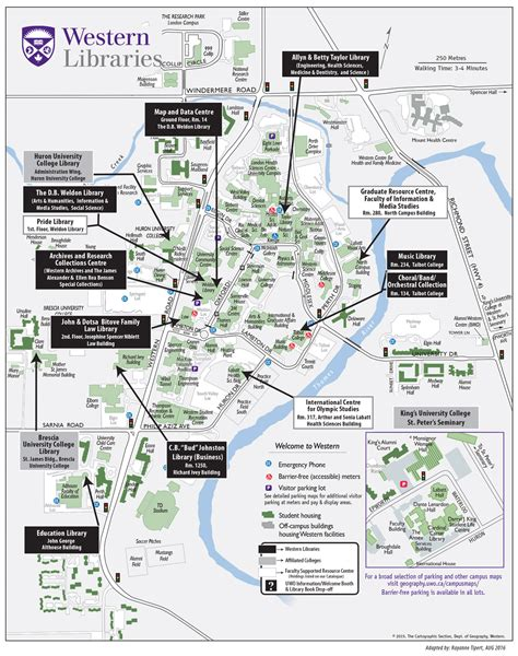 college map college college map uwo