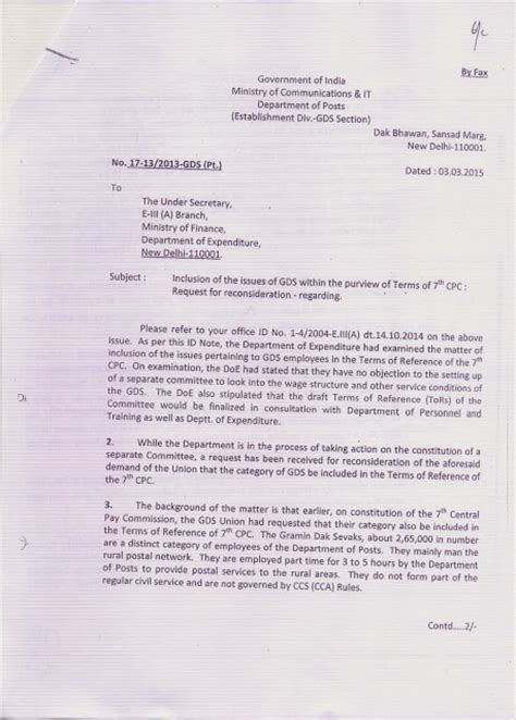 Finance Division Letter Rural Postal Employees Copy Of Letter Reference Made To Ministry Of Finance Department Of