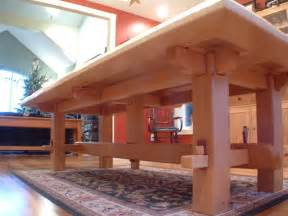 Craftsman timber frame furniture asian dining tables vancouver
