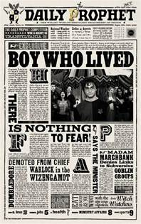 Daily Prophet Template by Harry Potter Daily Prophet Printable Daily Prophet Harry