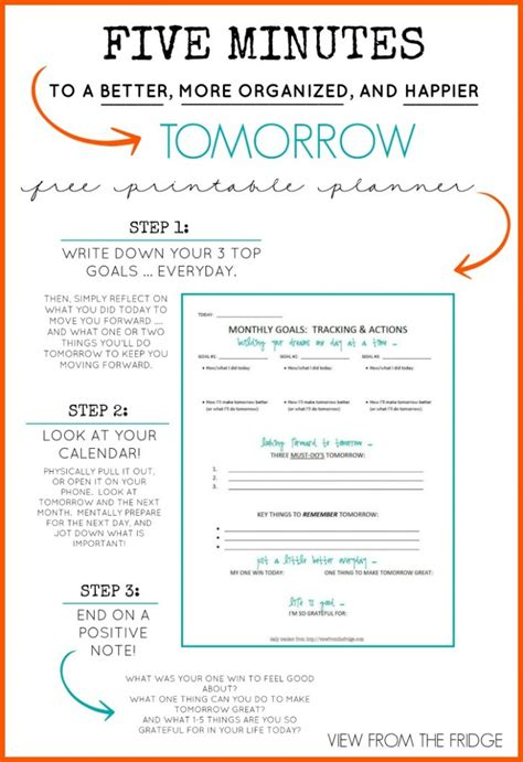 free printable planner for moms free daily planner printable 5 minutes to a better more