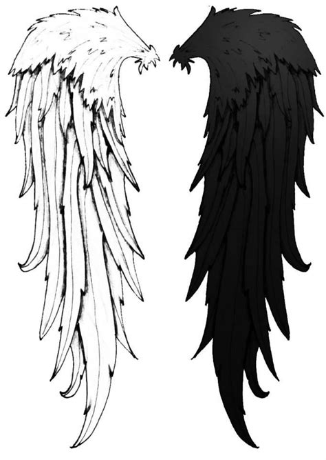 black and white angel wings tattoo designs cool cool wings black and white idea